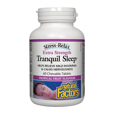 Stress-Relax® Tranquil Sleep Extra Strength Tropical Fruit Flavour 60 Chewable Tablets