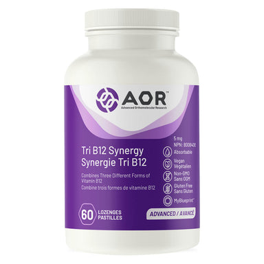 Bottle of AOR Tri B12 Synergy 5 mg 60 Lozenges