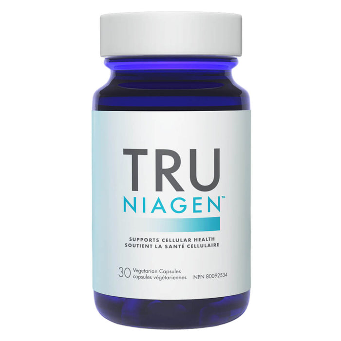 Bottle of Tru Niagen 30 Vegetarian Capsules