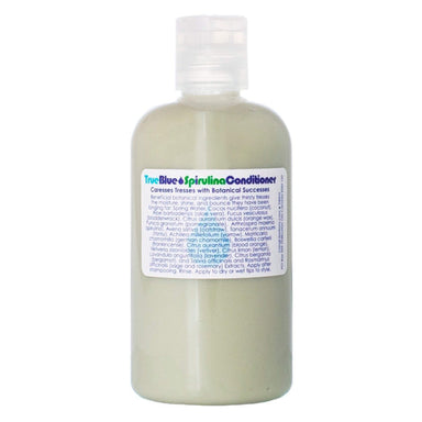 Bottle of Living Libations True Blue Spirulina Conditioner 240 Milliliters