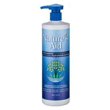 Pump Bottle of Nature's Aid True Natural Moisturizing Skin Gel 500 Milliliters