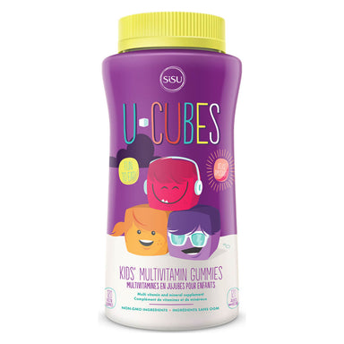 Bottle of U-Cubes Multivitamin Cherry, Grape & Orange 120 Chewables