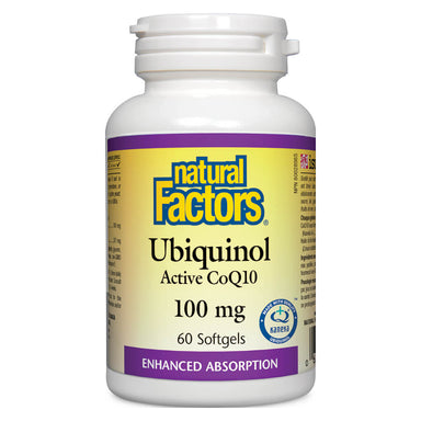 Bottle of Ubiquinol Active CoQ10 100 mg 60 Softgels