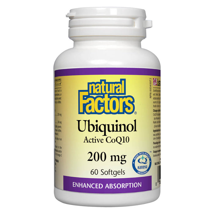 Bottle of Ubiquinol Active CoQ10 200 mg 60 Softgels
