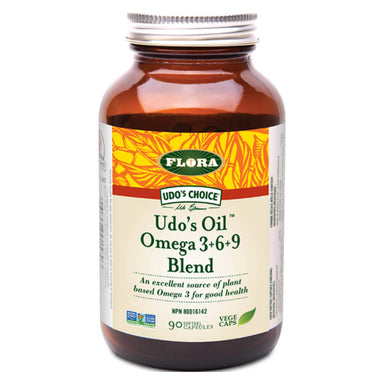 Bottle of Udo's Oil™ 3·6·9 Blend 90 Capsules