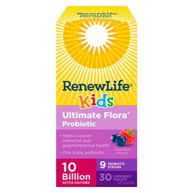 Ultimate Flora Kids Probiotic 10 Billion 30 Chewable Tablets