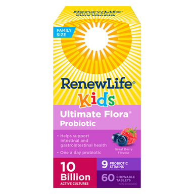 Ultimate Flora Kids Probiotic 10 Billion 60 Chewable Tablets