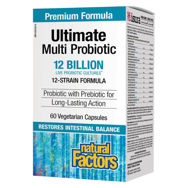 Box of Ultimate Multi Probiotic 12 Billion 60 Vegetarian Capsules