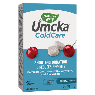 Box of Nature's Way Umcka® Cold Care 20 Chewables