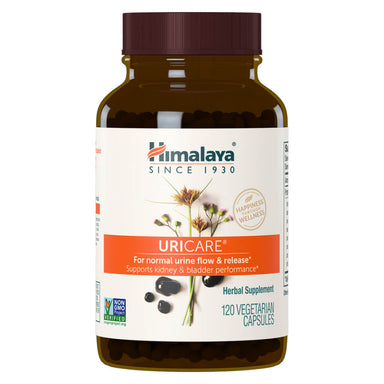 Bottle of UriCare 120 Vegetable Capsules