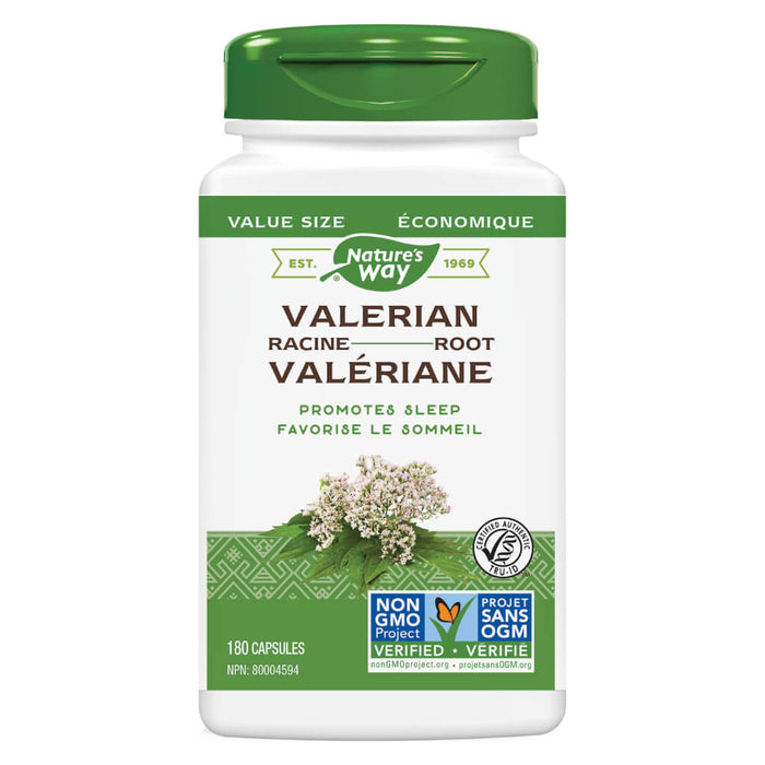 Bottle of Nature's Way Valerian Root 180 Capsules