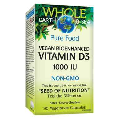 Box of Vegan Bioenhanced Vitamin D3 1000 IU 90 Vegetable Capsules