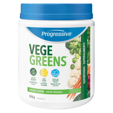 Bottle of VegeGreens Original Flavour 510 Grams | Optimum Health Vitamins, Canada