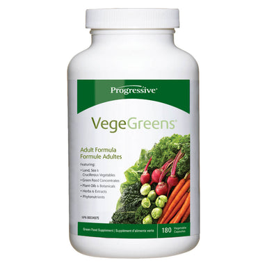 Bottle of VegeGreens Capsules 180 Vegetable Capsules