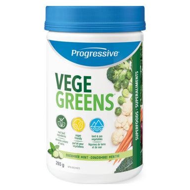 Container of VegeGreens Powder Cucumber Mint Flavour 265 Grams