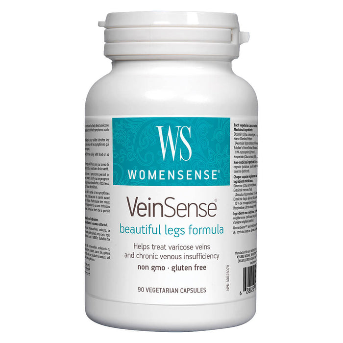 Bottle of WomenSense VeinSense 90 Vegetarian Capsules