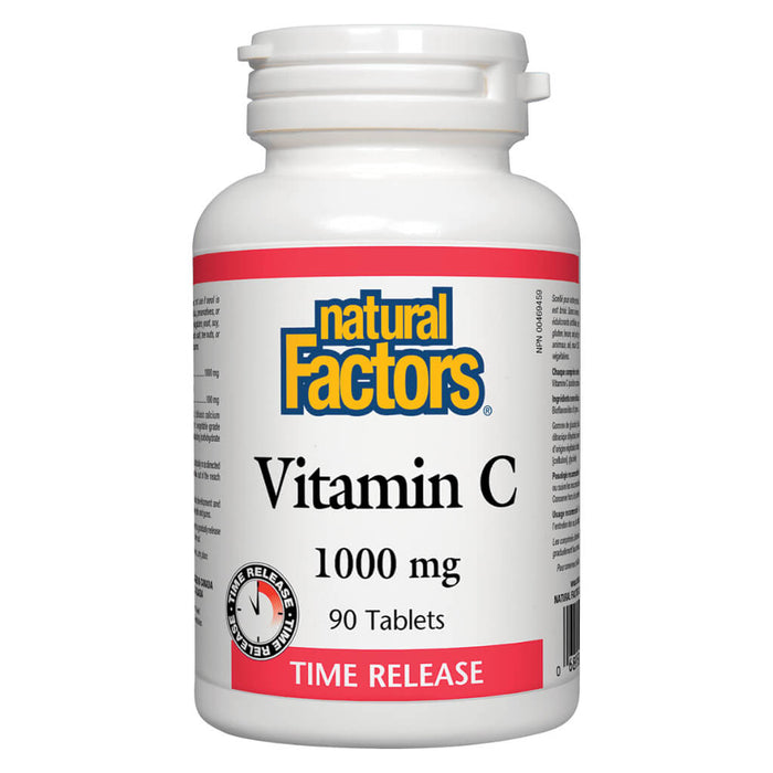 Bottle of Vitamin C 1000 mg Time Release 90 Tablets
