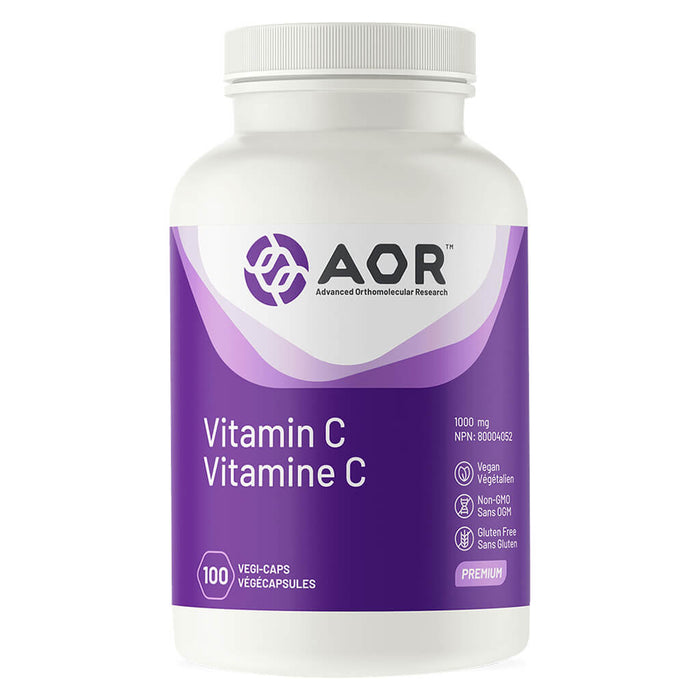 Bottle of AOR Vitamin C 1000 mg 100 Vegi-Caps