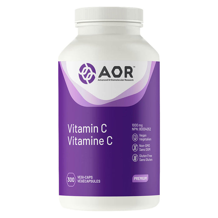 Bottle of AOR Vitamin C 1000 mg 300 Vegi-Caps