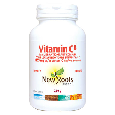 Bottle of Vitamin C8 Powder 250 Grams