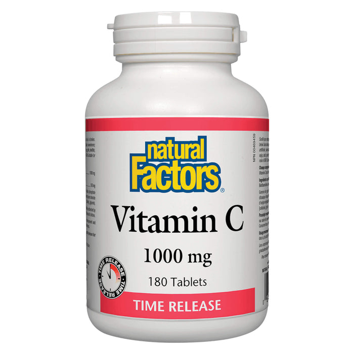Bottle of Vitamin C 1000 mg Time Release 180 Tablets
