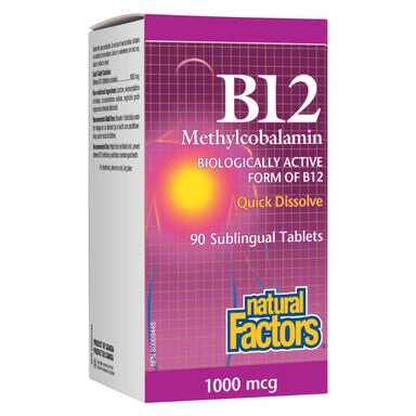 B-12 Methylcobalamin 1000 mcg 90 Sublingual Tablets