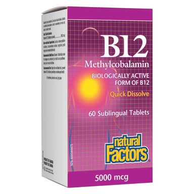 B-12 Methylcobalamin 5000 mcg 60 Sublingual Tablets