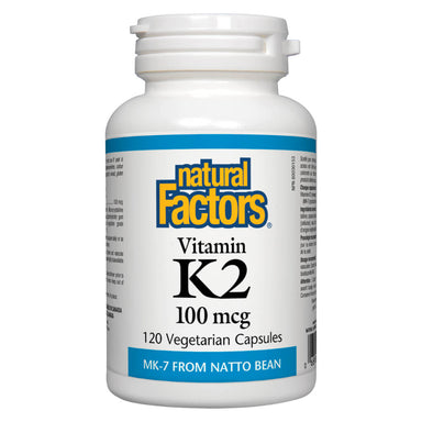 Bottle of Vitamin K2 100 mcg 120 Vegetarian Capsules