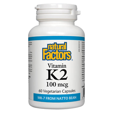 Bottle of Vitamin K2 100 mcg 60 Vegetarian Capsules