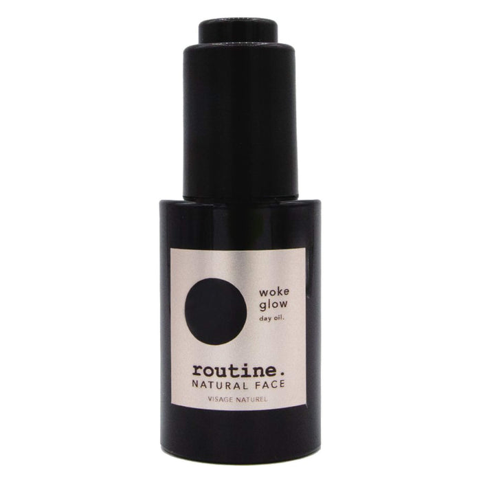 Bottle of Routine Woke Glow - Day Face Oil 30 Milliliters