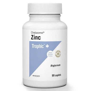 Bottle of Zinc Chelazome™ Bisglycinate 15 mg 90 Caplets