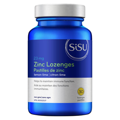 Bottle of Zinc Lozenges 23 mg Lemon-Lime Flavour 30 Lozenges