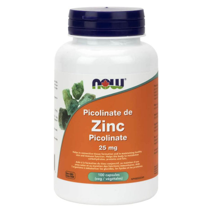 Bottle of Zinc Picolinate 25 mg 100 Vegetable Capsules