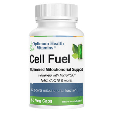 Bottle of Cell Fuel 60 Vegetable Capsules
