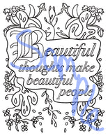 Inspirational Sayings and Quotes with Birds and Flowers Mandalas to Color | Printables | PDF | Coloring Book | 42 pages