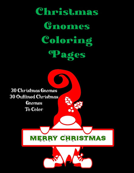 Christmas Gnomes Coloring Pages | Printables