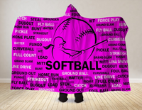 Softball Hooded Blanket