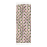 Light Purple Flowers and Dragonflies on Pink Winter Scarf Cashmere Feel