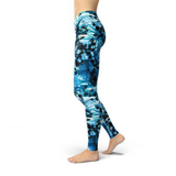 Jean Blue Crystals Leggings Adult XS- Adult 3XL