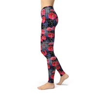 Jean Digital Flowers Leggings Adult XS- Adult 3XL