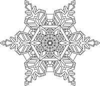 Snowflake Mazes and Coloring Pages | Printable | Digital