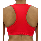 Candy Apple Solid Color Sports Bra