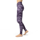 Jean Purple Lace Leggings Adult XS- Adult 3XL