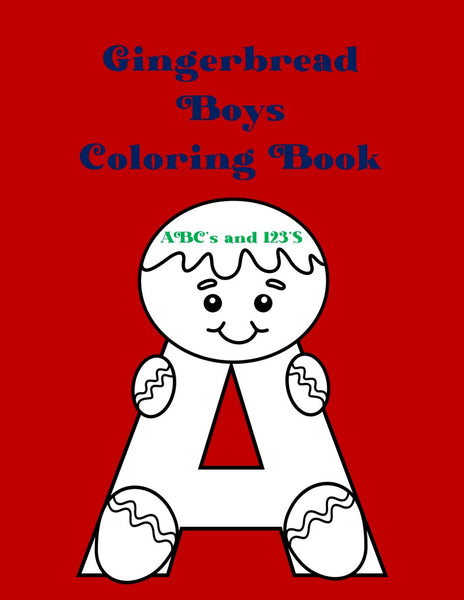 Gingerbread Boys Coloring Book | Printable