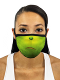 Christmas Grouch Face Mask With Filter Pocket