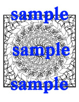 25 Square Flower Mandalas to Color! Volume 2 | Printable