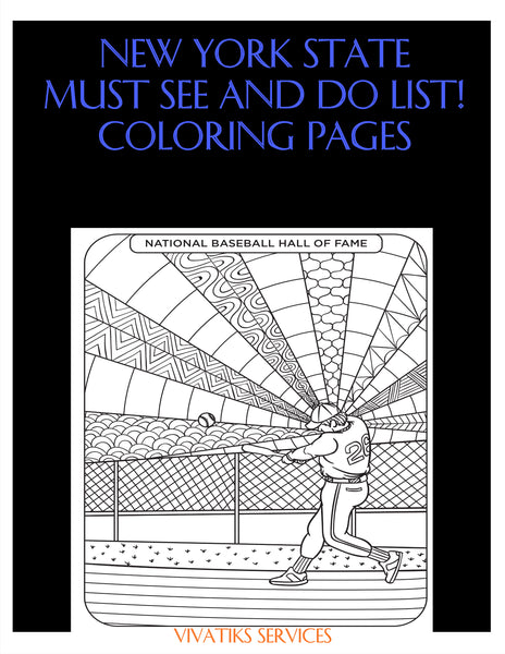 New York State MUST See and Do List! Coloring Pages | Printables