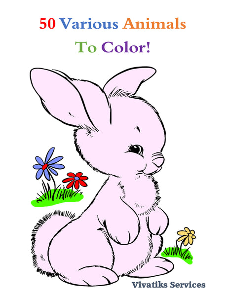 50 Various Animals to Color! | Printables | PDF | Coloring Book