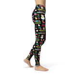 Jean Holly Jolly Leggings Adult XS-Adult 3XL