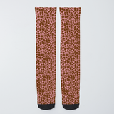 Pink Giraffe Long Socks Unisex